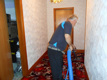 Carpet being cleaning