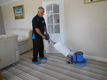 David Green Cleaning Carpet