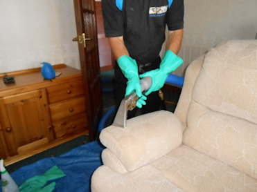 David cleaning Upholstery