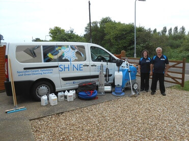 Shine Cleaning Services Van