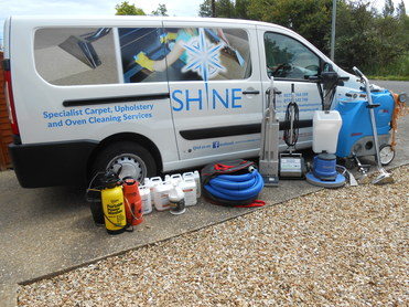Shine Cleaning Services Van with Dave & Tracey